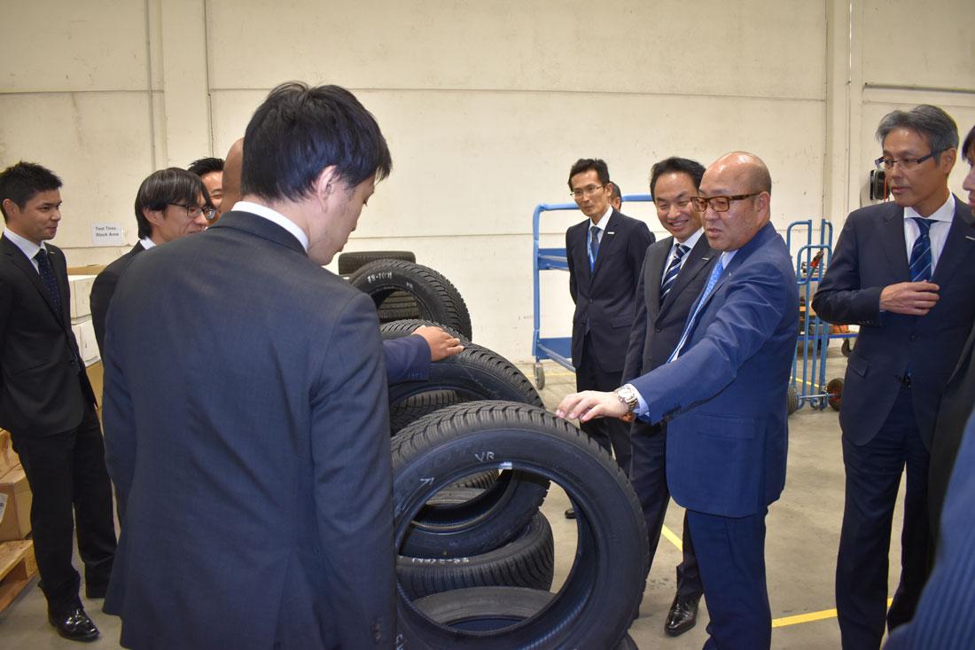 Präsident Takashi Shimizu bei der Eröffnung des F&E Zentrums in Willich